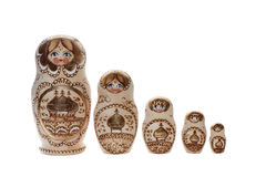 Bambole russe di incastramento. Matryoshka Fotografia Stock