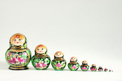 Bambole russe 1 di Matrioska Fotografia Stock