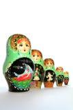 Bambole russe di matryoshka Fotografie Stock