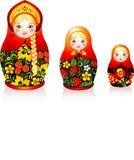 Bambole russe di matryoshka di tradizione Fotografie Stock