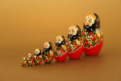 Bambole russe - Matruskas Fotografia Stock