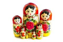 Bambole russe tradizionali di matryoshka Fotografie Stock