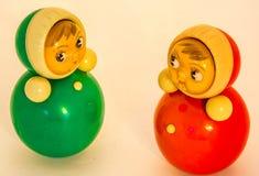Bambole 60s e 70s di Roly Poly che comunicano Immagine Stock Libera da Diritti