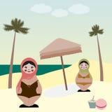 Bambole sulla spiaggia Fotografie Stock Libere da Diritti