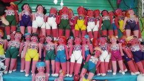 Bambole tradizionali del cartone Fotografia Stock