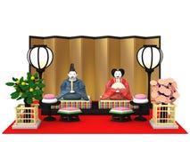 Bambole tradizionali giapponesi del ` di Hina Ningyou del ` per le ragazze Fotografia Stock