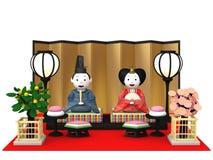 Bambole tradizionali giapponesi del ` di Hina Ningyou del ` per le ragazze Immagine Stock Libera da Diritti