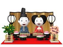 Bambole tradizionali giapponesi del ` di Hina Ningyou del ` per le ragazze Fotografie Stock