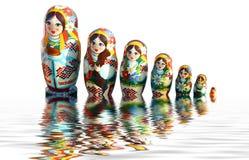 Bambole ucraine di babuschka Fotografia Stock