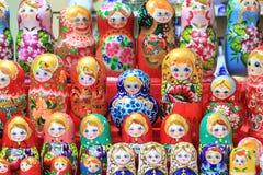 Bambole variopinte Immagine Stock