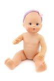 Bamboletta nuda, fondo dell'isolato Fotografia Stock