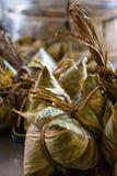 Bamboo вареники листьев Стоковая Фотография