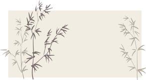 bamboo ветви китайские иллюстрация вектора