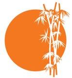 bamboo заход солнца иконы иллюстрация вектора