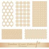 Bamboo картина weave Стоковое фото RF