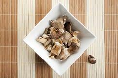 bamboo квадрат shitake гриба циновки шара Стоковые Изображения RF