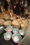 Bamboo корзина продуктов Стоковые Фото