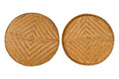 2 bamboo корзины Стоковые Изображения