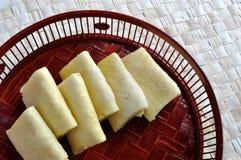 bamboo крены яичка тазика Стоковые Изображения RF