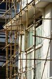 Bamboo леса в строительной площадке стоковое фото rf