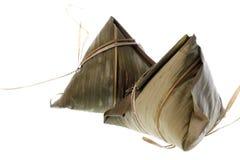 bamboo листья изолированные варениками Стоковое Фото