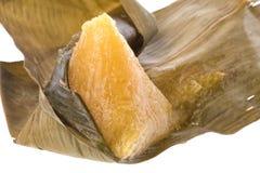 bamboo листья изолированные вареником Стоковые Изображения RF