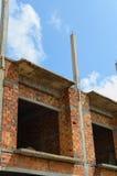 bamboo место лесов конструкции Стоковое Изображение