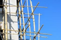 bamboo место лесов конструкции стоковая фотография rf