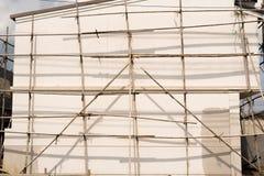 bamboo место лесов конструкции стоковая фотография