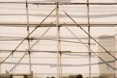 bamboo место лесов конструкции стоковые фотографии rf