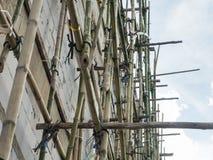 bamboo место лесов конструкции стоковое фото rf