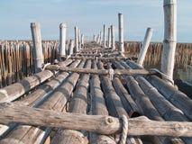 bamboo мост Стоковая Фотография
