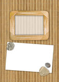 bamboo рамки деревянные Стоковая Фотография RF