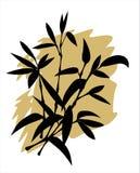 bamboo силуэт Стоковые Фотографии RF