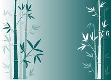 bamboo синь Стоковая Фотография