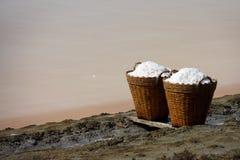 bamboo соль Таиланд корзины Стоковые Изображения