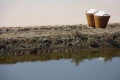 bamboo соль Таиланд корзины Стоковое Фото