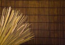bamboo спагетти зерна доски Стоковое Изображение RF
