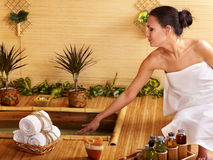 bamboo спа массажа Стоковая Фотография RF