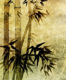bamboo старая бумажная картина Стоковое фото RF
