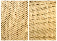 bamboo текстура собрания корзины Стоковое Фото