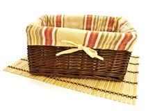 bamboo циновка корзины Стоковые Фото