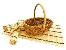 bamboo циновки корзины Стоковые Изображения RF