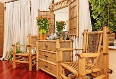 bamboo этническая мебель Стоковое Фото