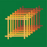 Bamboo. Vectorial image of yellow even bamboo Vector Illustration