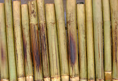 Bamboo. S placed near charcoal as part of preparation for Malaysian special dish of lemang royalty free stock photography