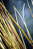 Bamboo. Decorate in living room Stock Image
