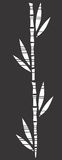 Bamboo. That is black and white royalty free illustration