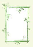 Bamboo. Frame of asian symbol bamboo vector illustration Stock Photography