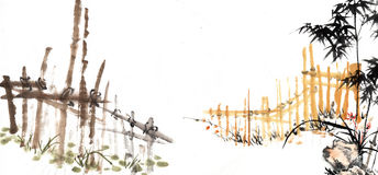 Bamboo with animal Stock Photos